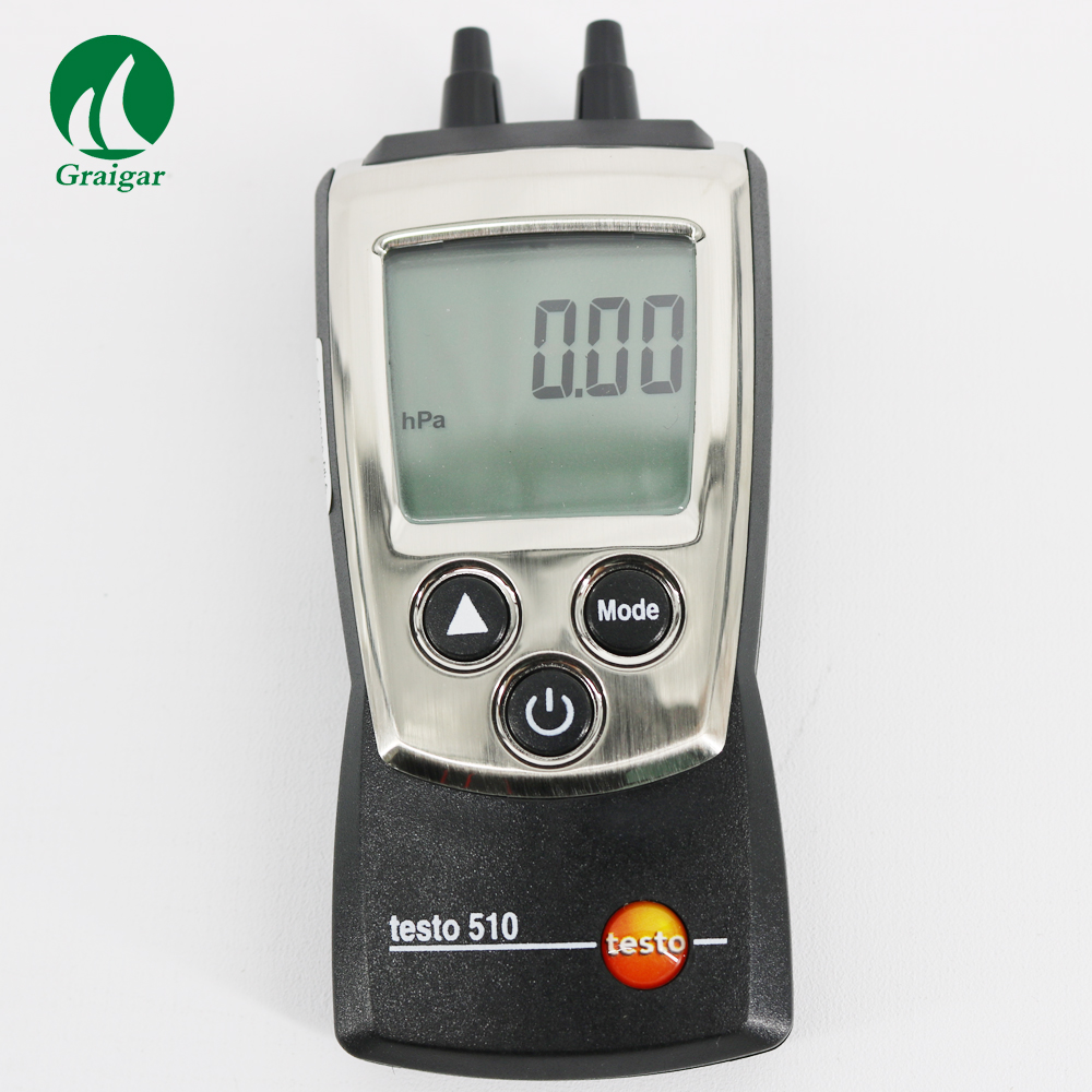 testo510 Mini Differential Pressure Tester With Temperature and Air Density Compensated Difference Pressure Meter