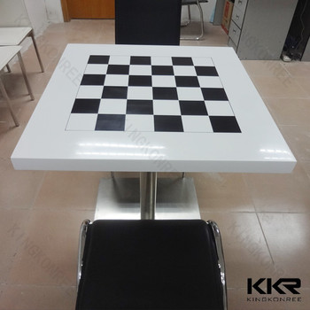 solid surface elegant repairable modern chess table - buy chess