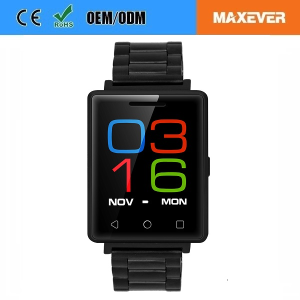 "1.54"" Touch Screen MTK2502 BT4.0 Waterproof Heart Rate Monitor G7 Smart Watch Phone with SIM Card"