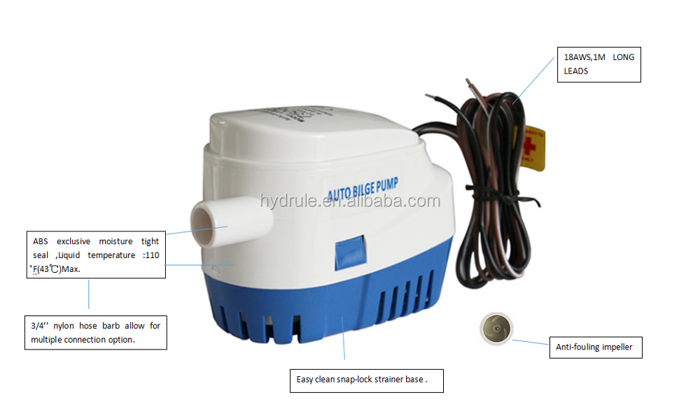 Hydrule Mini Sump Pump With Float Switch Small Submersible Bilge Pump - Buy  Small Submersible Pump With Float Switch,Mini Sump Pump With Float