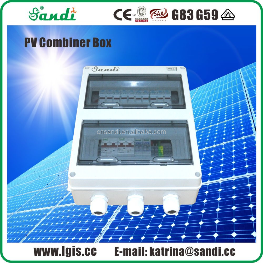 PV array DC combiner box Solar string boxes 2, 4, 5, 6 strings