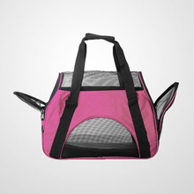 2016 New design Soft-Sided pink Pet cat Carrier with Mesh Side Windows and Doors
