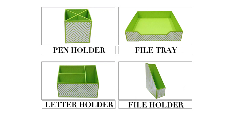 NAHAM 2017 office customized office stationary desk organizer box set