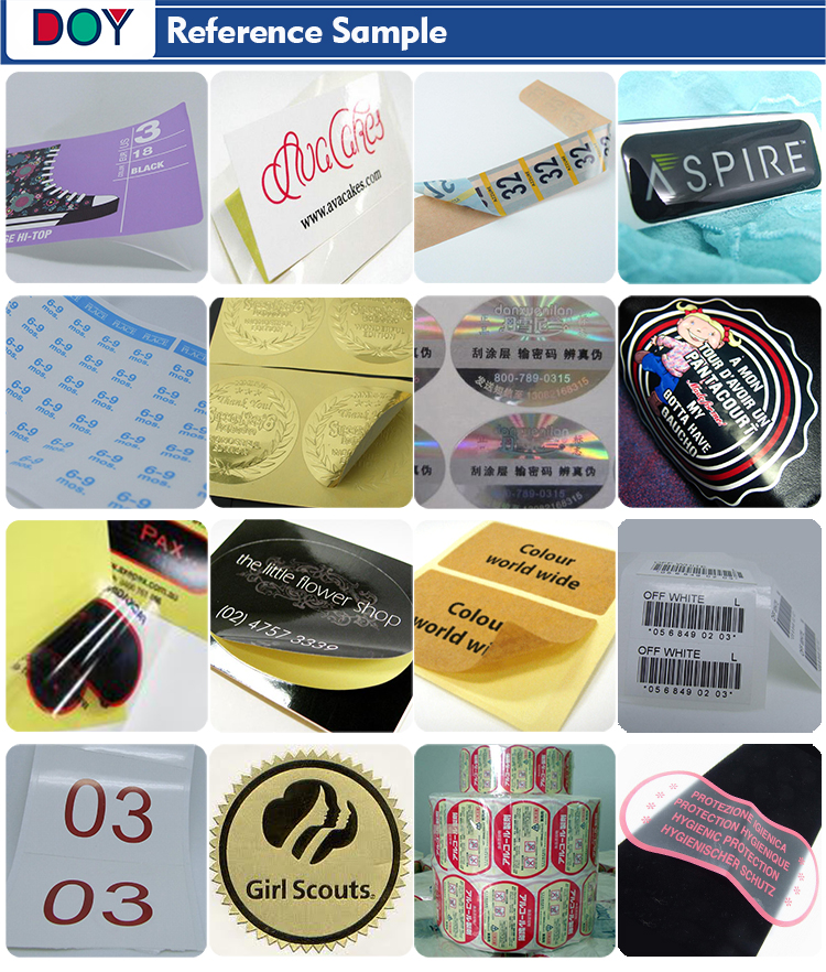 Private Design Custom Die Cut Adhesive Paper Stickers with Shiny Gold Foil Printed Brand Logo