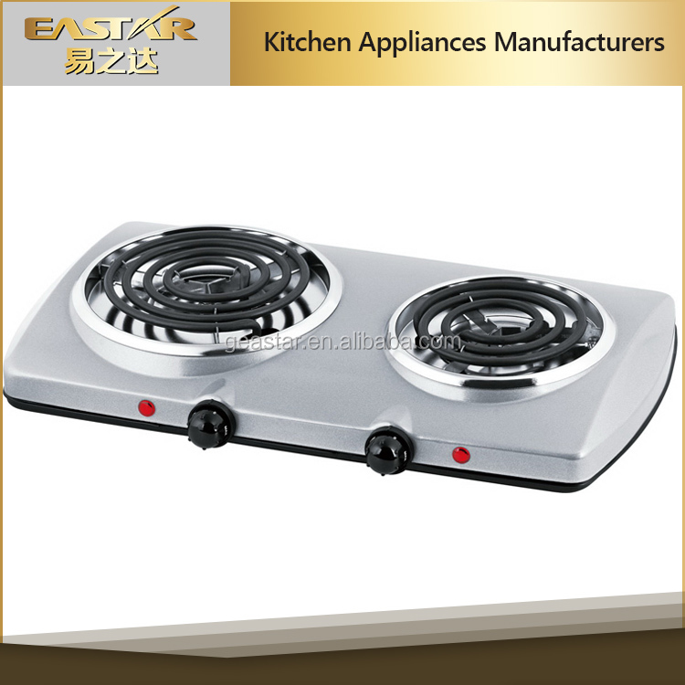 2016 new coil stainless steel 2 burner electric stove cooking hot plate for sale 220v cooking stove