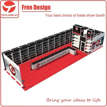 Trade Stands Olympia : Yota offer 6 pack fitness custom trade show booth for olympia with