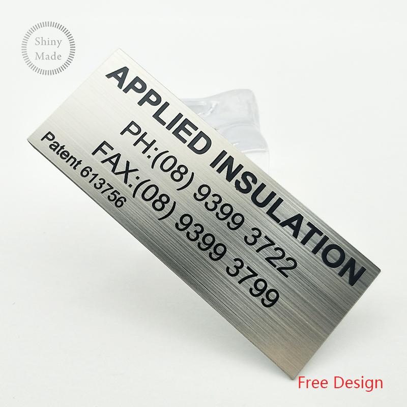 Wholesale cheap custom logo metal nameplate stainless steel tag custom metal name plates