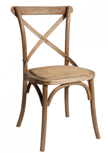Classic Hampton French Provincial Oak Cross Back Timber Chair