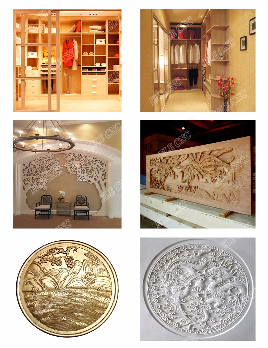 1325 wooden door production line , auto change tool cnc router , 3d wood cutting cnc machine