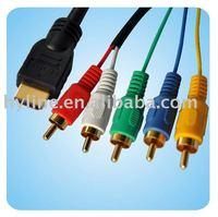 Converter Adapter Cable HDMI HDTV to VGA 3 RCA