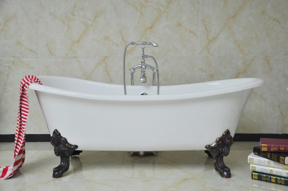 Vasca Da Bagno In Ghisa Con Piedini : Vasca da bagno con gambe ra ma in ghisa piedini
