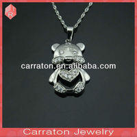 Children Safe 999 Pure Silver Jewelry Tiger Charms Pendant