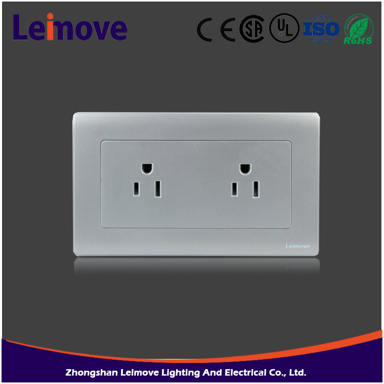 Unique products to buy OEM Leimove switch 147cm gray faceplate double American standard pin socket