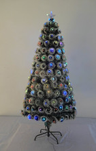 Snow 180cm led christmas decorated optical tree