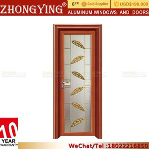 Aluminium Door Frame Price , Hospital Small Size Interior French Blind  Doors With Glass Inserts Side Panels