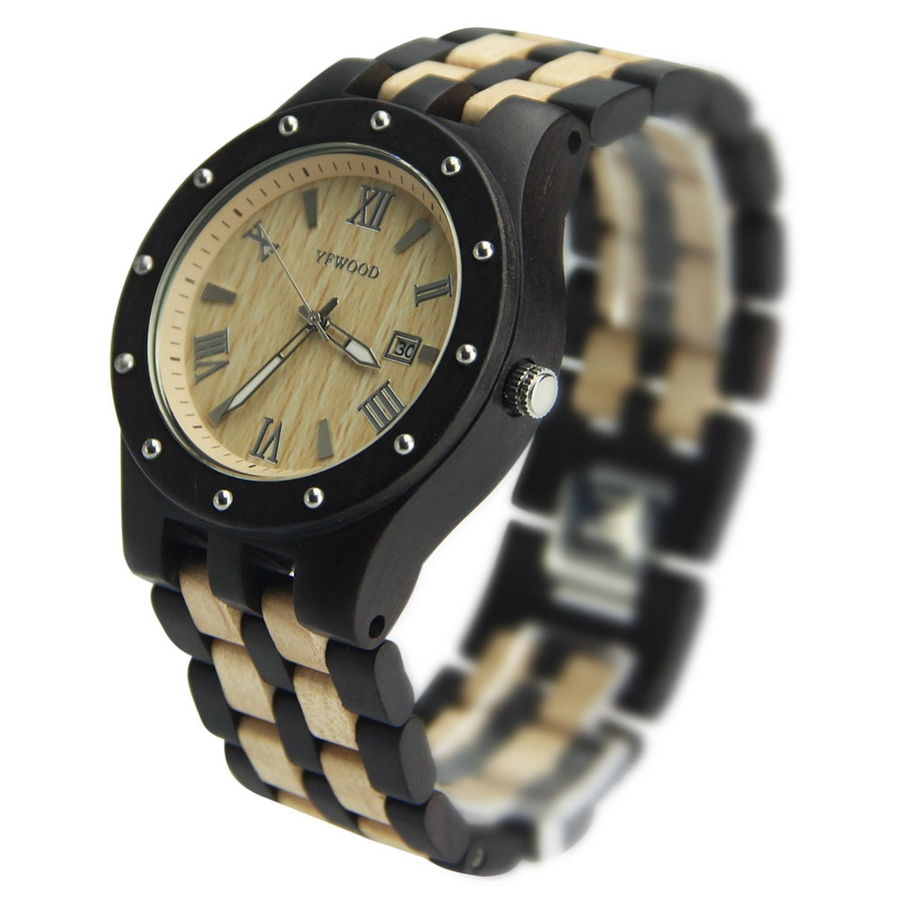 Mens Fashion Eco-friendly Wooden Watch Bewell Wood Bamboo Wacthes