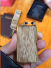 Wholesale usb electronic double ARC lighter with wood case