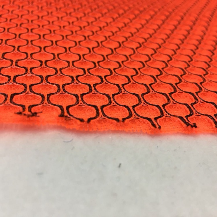 breathable two tone color  honeycomb 3d air  mesh fabric for sneakers and shoes