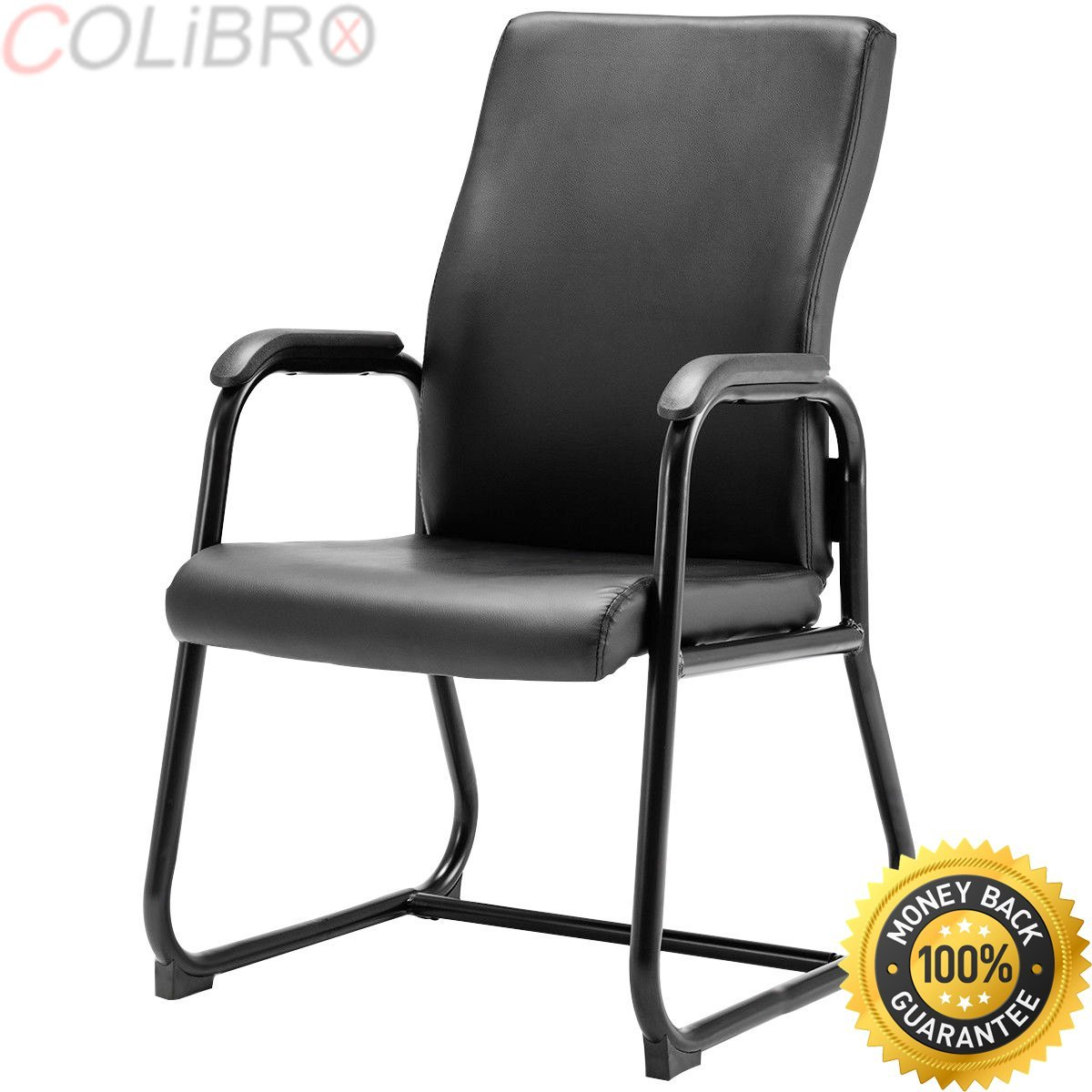 COLIBROX--Set of 2 PU Conference Chair Mid-Back Reception Guest Office Lecture Exam Chair. leather conference chairs. best conference room chairs amazon. black amazon reception chairs. guest chairs.