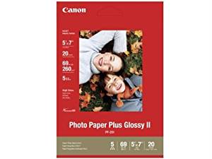 """Canon Photo Paper Plus Ii - Glossy Photo Paper - 5 In X 7 In - 20 Sheet(S) - For Pixma Ip100, Ip2600, Ip3500, Ip4500, Mini320, Mp480, Mp520, Mp620, Mx7600, Mx850, Pro9000 """"Product Type: Supplies & Accessories/Paper Supplies"""""""