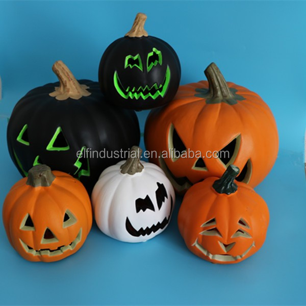 hot sales halloween large led lighted plastic pumpkins with vampire teeth for sale - Plastic Pumpkins