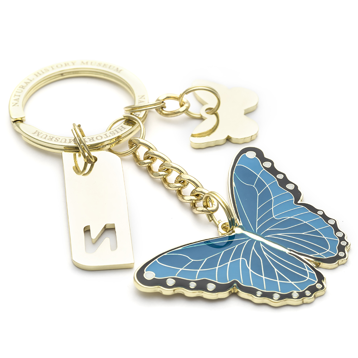 Metal Key chain animal butterfly shaped custom metal keychain for christmas gift