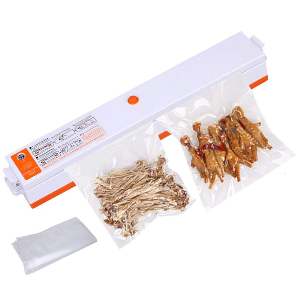 Vacuum Sealer,iDeep Compact Size Automatic Food Vacuum Air Seal Packing Machine Vacuum Sealing Include 15 pcs Vacuum Bags Great for Food Preservation Storage Saver Packing