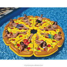 Outdoor PVC inflatable float line Floating deck chair pizza floating row water sports products