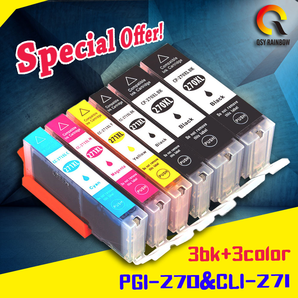 special printing with new chip ink cartridges for Canon PGI-270 cartridge ink
