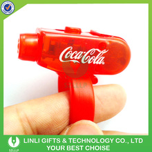 Custom Logo Red Plastic Led Finger Light, ABS Flashlight Finger Ring,Party Led Finger Toy