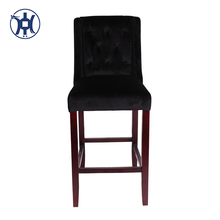 Home Bar Furniture Wooden Bar Stool High Antique Bar Chair Vintage Barstool