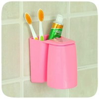 J463 Multifunctional magnetic hanging colorful wash wall mount toothbrush holder