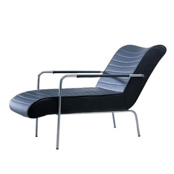 modern stainless steel tube frame outdoor lounge chair