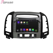 2015 Top Newly Cortex A9 Dual-Core Android 4.4.4 Car Dvd Player For SANTA FE  2012 With GPS Free Map Bluetooth Free Shipping