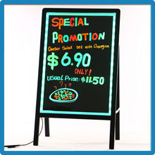 Low price aluminium alloy tempered glass external outdoor led flashing sign outdoor display board manufacturers