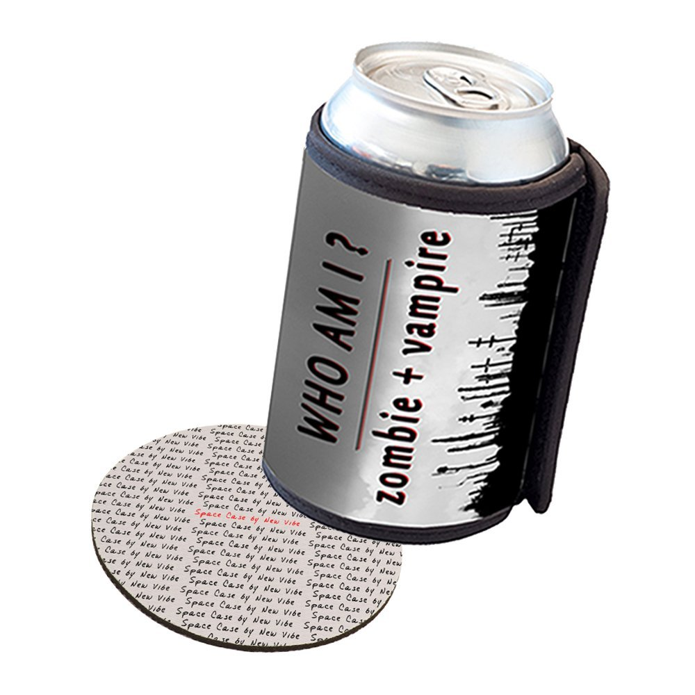 Space Case by New Vibe Can Cooler Koozie - Zombie Vampire