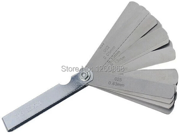 Cheap wire feeler gauge find wire feeler gauge deals on line at free shipping2pcslot 004 063mm 26 blade thickness gap metric filler greentooth Choice Image