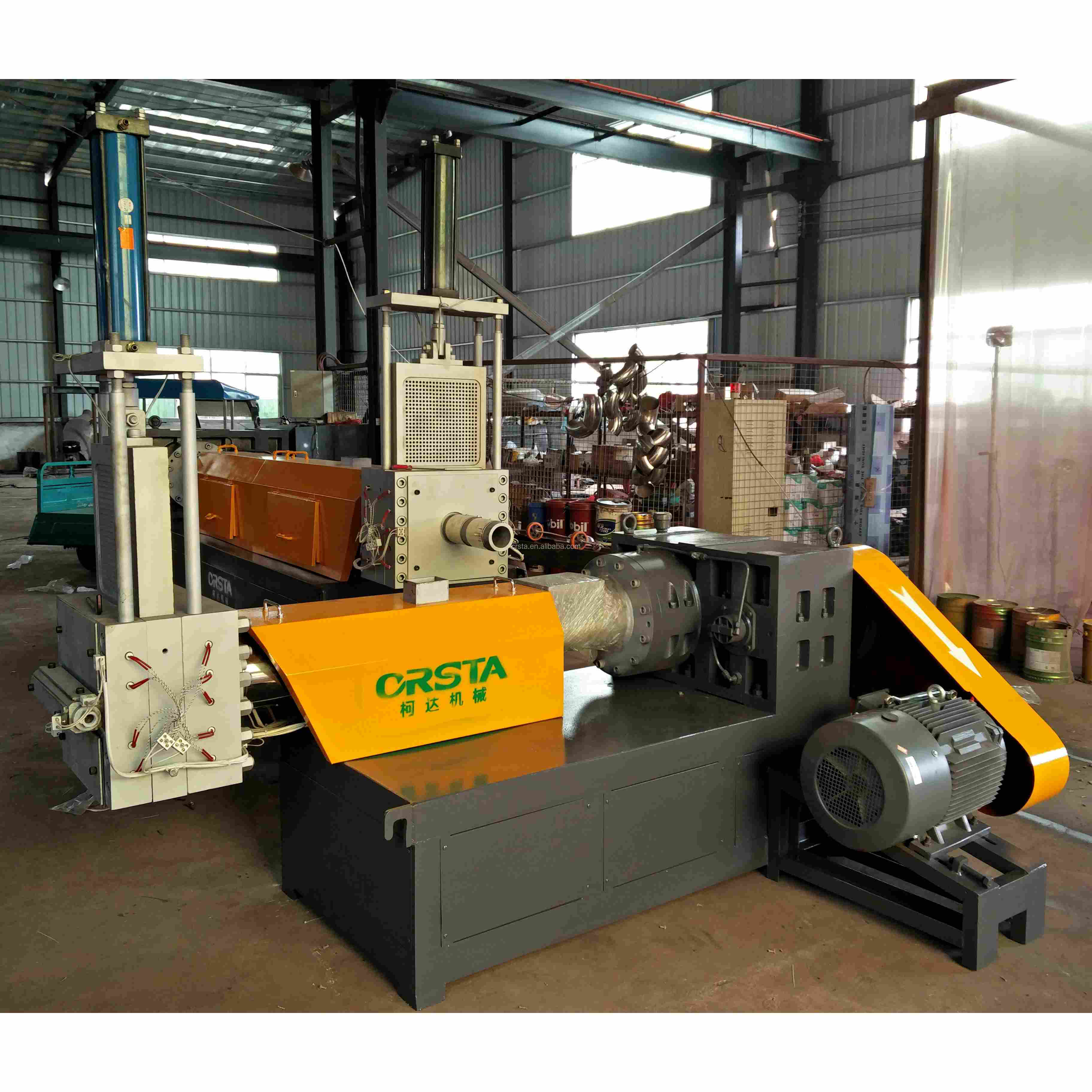 LDPE HDPE PP recycle plastic granules making machine price/ ABS PS pelletizing plant