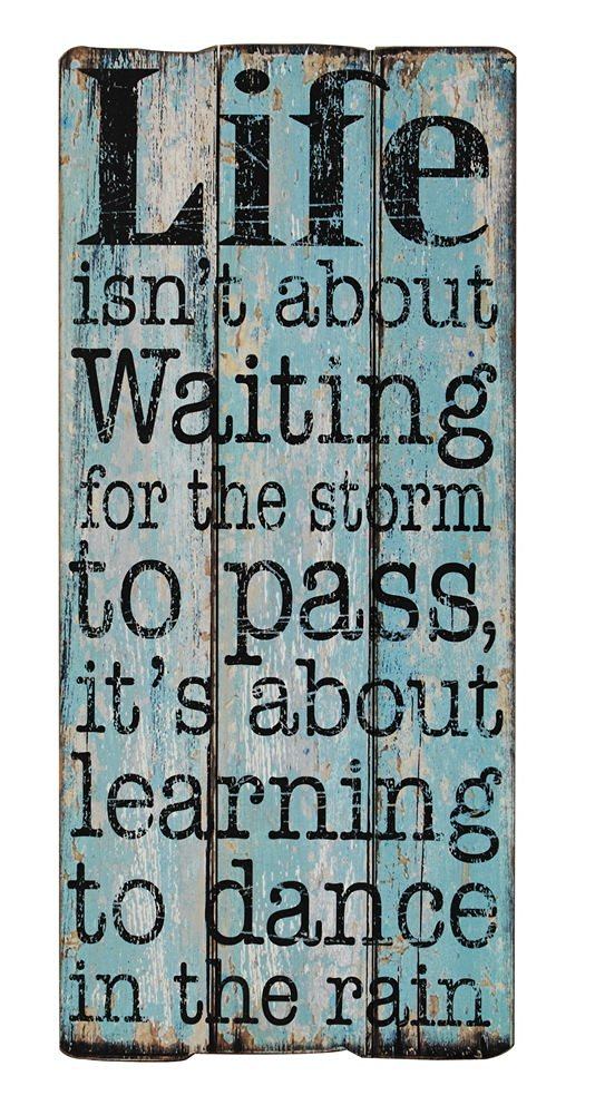 Wall D/écor Plus More WDPM1320 Life Isnt About Waiting.Learning To Dance In The Rain Vinyl Wall Decal Inspirational Quote 23x21 Inch Chocolate Brown
