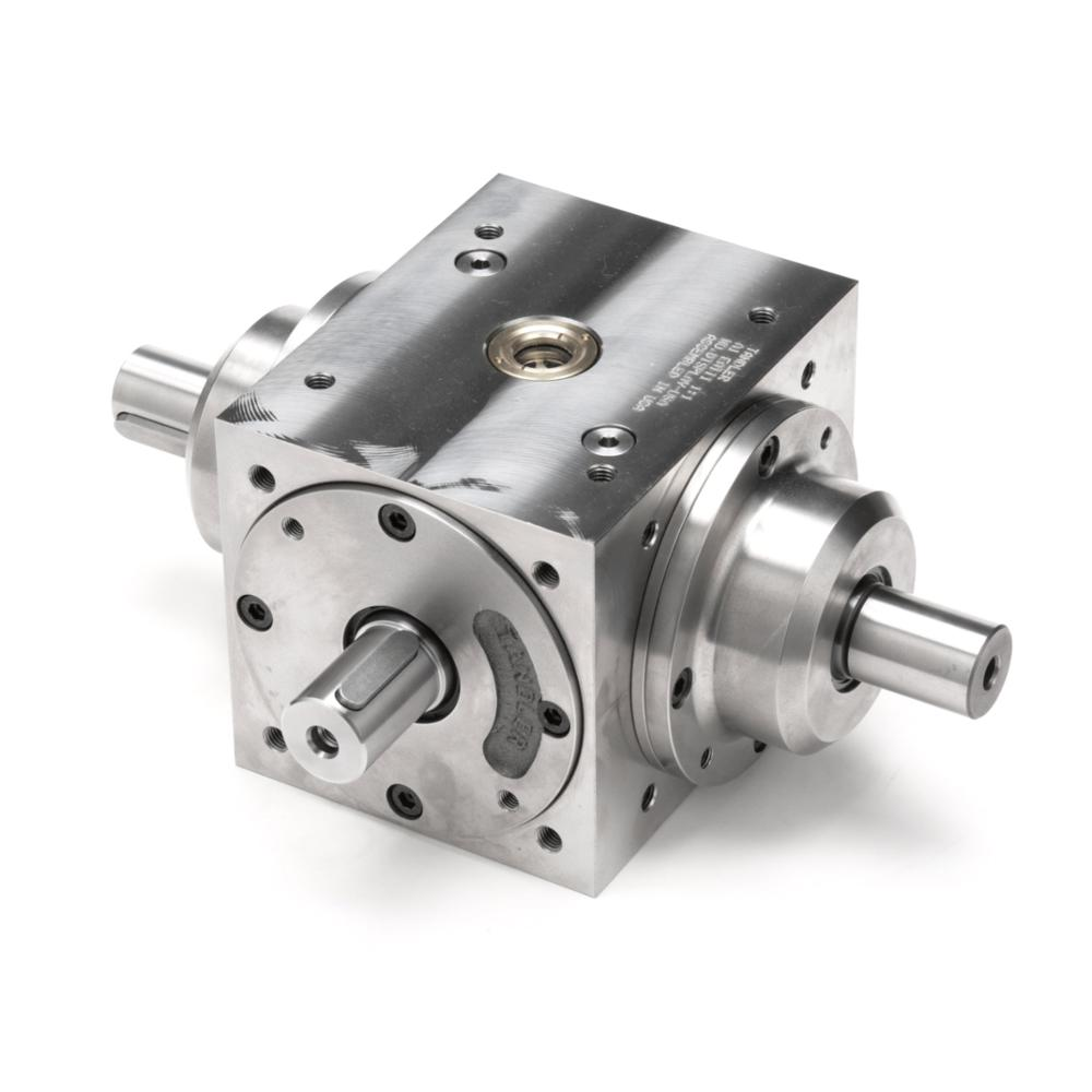 oem custom made steel and aluminum transmission spiral bevel gearbox