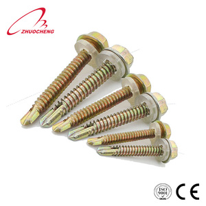 Brass roof self drilling screw bolt 4 inch with rubber washer