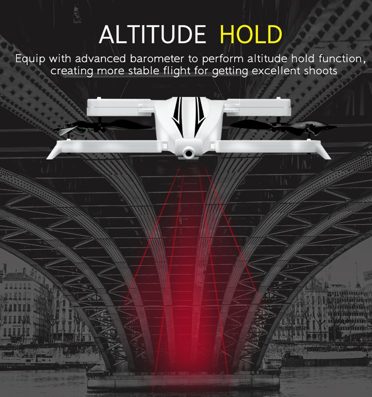 3. T13_White_Foldable_Mini_Selfie_Drone_with_720P_Wide_Angle_HD_Camera