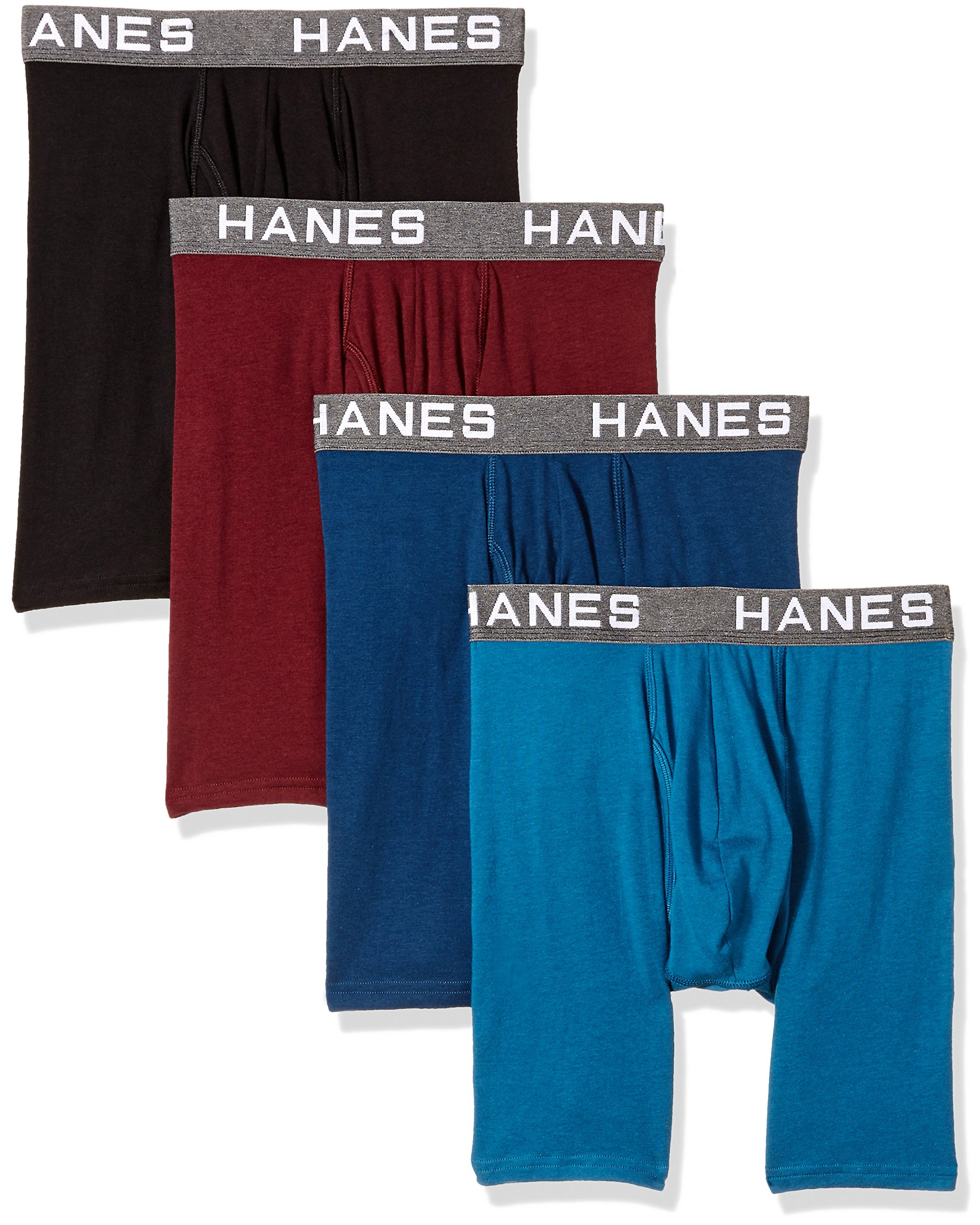 Hanes Ultimate Men's Comfort Flex Fit Ultra Soft Cotton Modal Blend Boxer Brief 4-Pack