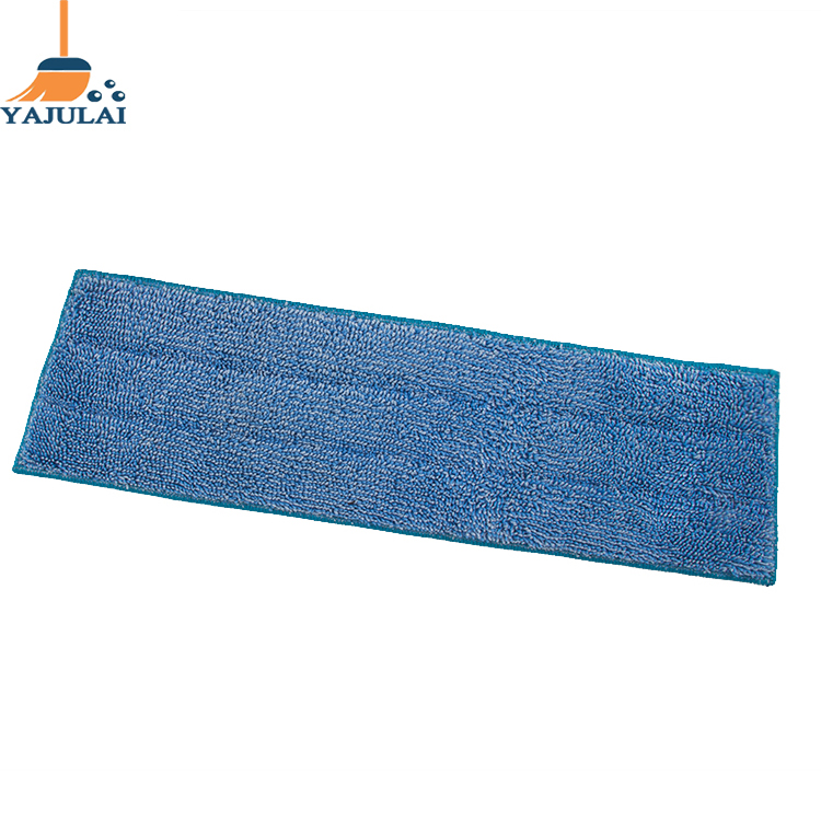 washable blue microfiber replacement flat mop head refill design suitable for various
