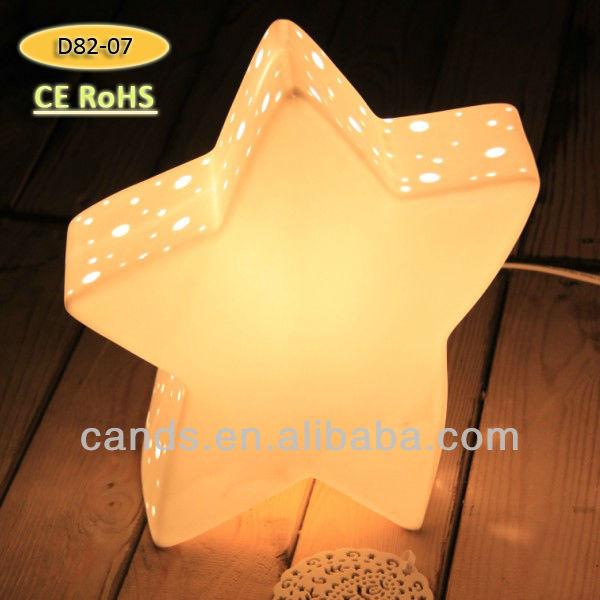 Star Shape Porcelain Party Decoration Lamp