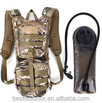 44d939aabe3 Custom camo Tactical bike bag outdoor backpack hydration pack Military  Style Backpack with 2.5L water