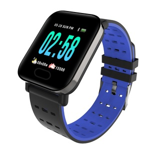 Image of A6 Smart Watch Men Women Heart Rate Monitor Sport Fitness Tracker Blood Pressure Waterproof SmartWatch For IOS Android Rated 5.0