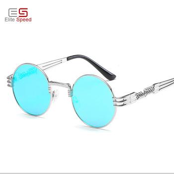 a06b0f234 Gothic Steampunk Sunglasses Women Men Metal Wrap Eyeglasses Round Shades  Vintage Brand Designer male Sun glasses