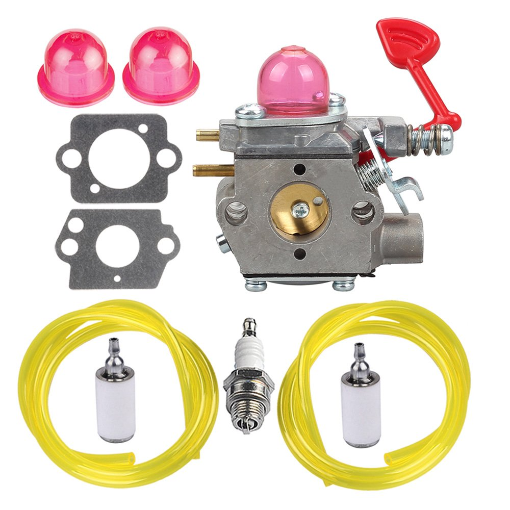 HIPA WT-875 Carburetor with Fuel Line Filter Spark Plug for Craftsman Poulan Pro Blower BVM200C BVM200VS P200C GBV325 P325 200mph