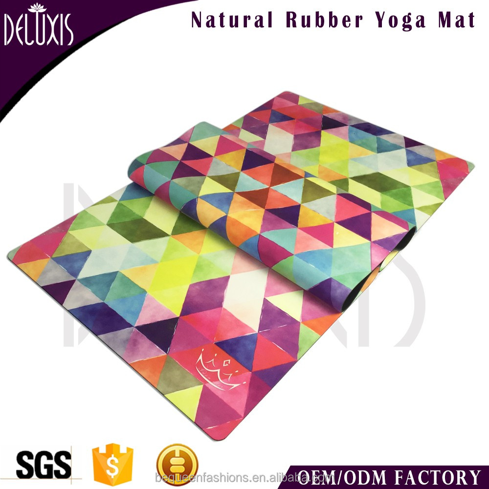 Multi-colour ethnical pattern fitness oem eco pilates mat 2mm yoga mats